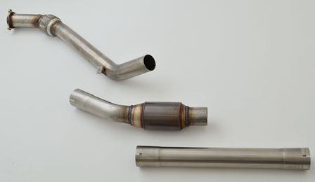 70mm Downpipe mit 200 Zellen HJS Sport-Kat.
