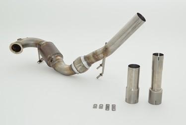 63.5mm Downpipe mit Sport-Kat.
