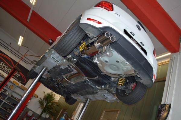 70mm Single-Anlage mit Klappensteuerung, VW Polo 6R Facelift / 6C GTI