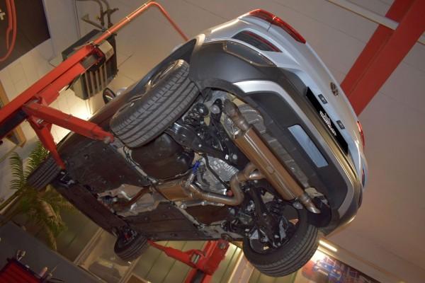 76mm Duplex-Anlage mit Klappensteuerung, VW T-ROC 4motion