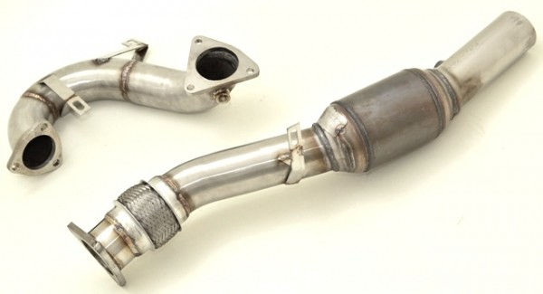 76mm Downpipe mit Sport-Kat.