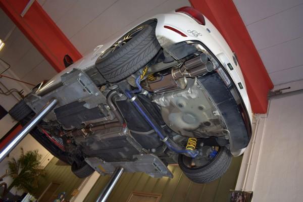 70mm Single-Anlage mit Klappensteuerung, VW Polo 6R WRC